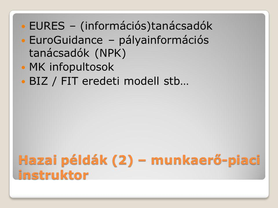 Hazai példák (2) – munkaerő-piaci instruktor