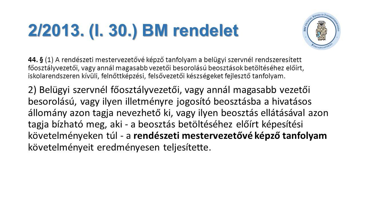 2/2013. (I. 30.) BM rendelet