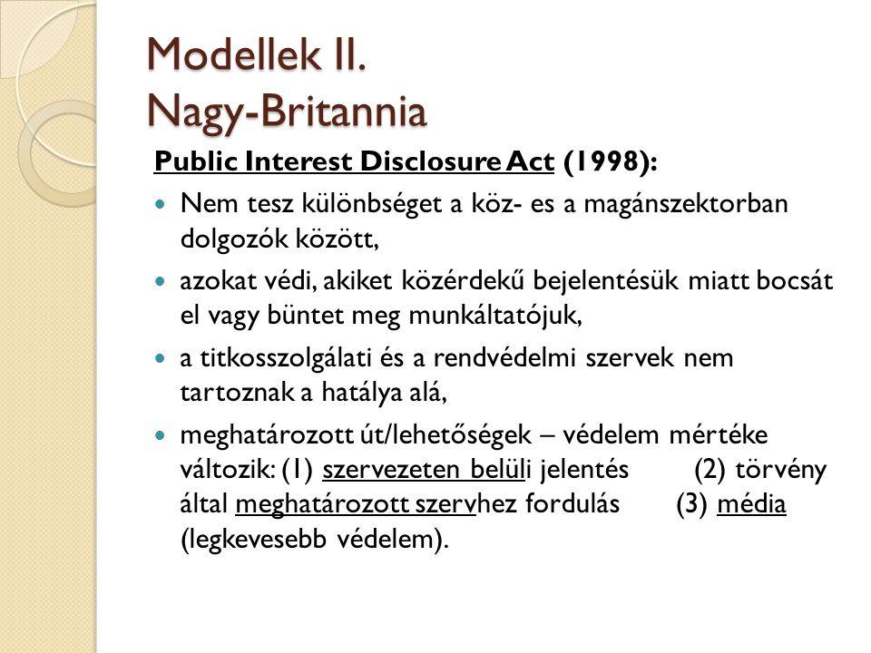 Modellek II. Nagy-Britannia