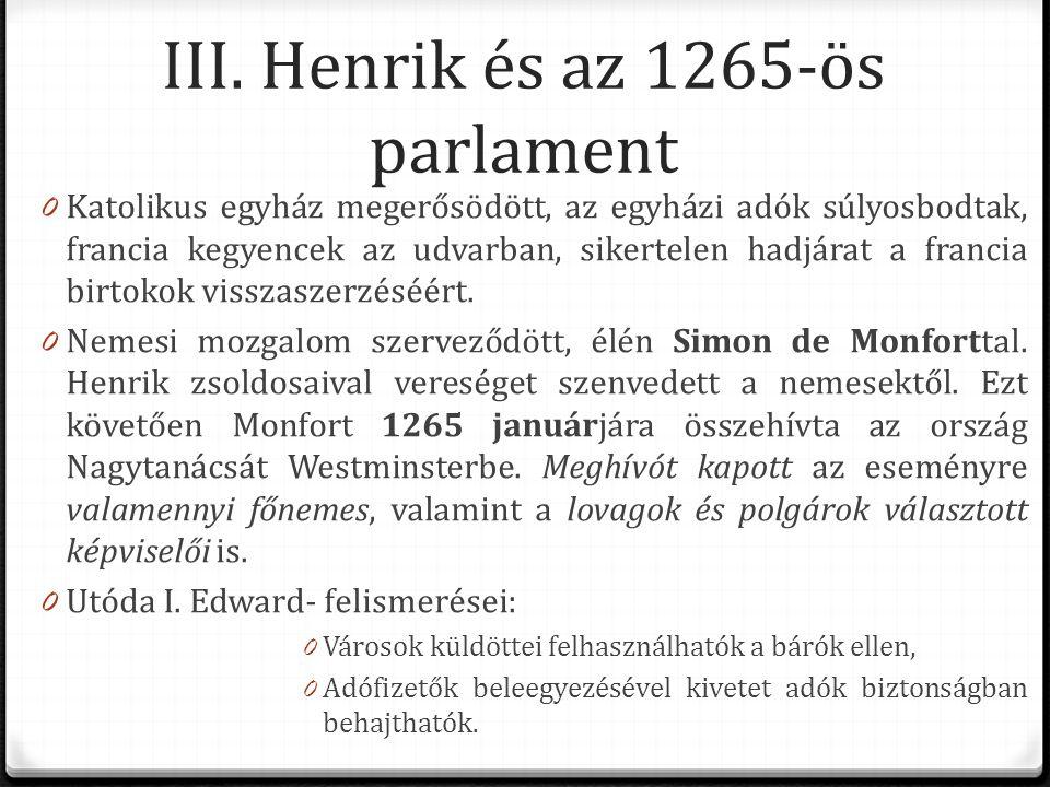 III. Henrik és az 1265-ös parlament