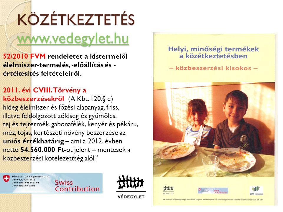 KÖZÉTKEZTETÉS www.vedegylet.hu