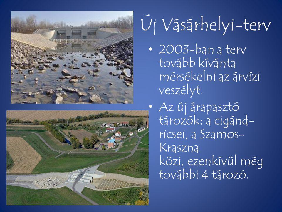 Új Vásárhelyi-terv 2003-ban a terv tovább kívánta mérsékelni az árvízi veszélyt.