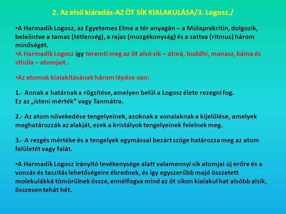 2. Az első kiáradás-AZ ÖT SÍK KIALAKULÁSA/3. Logosz./
