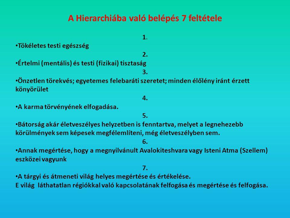 A Hierarchiába való belépés 7 feltétele