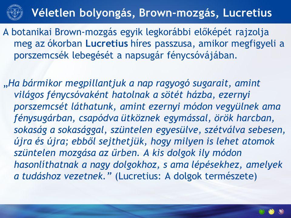 Véletlen bolyongás, Brown-mozgás, Lucretius