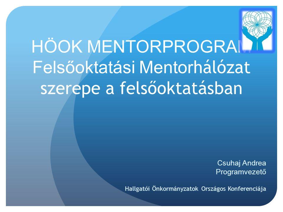 HÖOK MENTORPROGRAM Felsőoktatási Mentorhálózat szerepe a felsőoktatásban