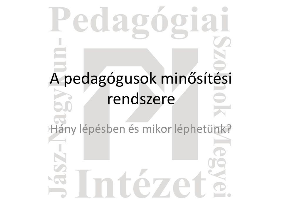 A pedagógusok minősítési rendszere