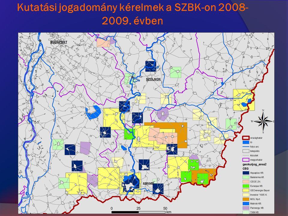 Kutatási jogadomány kérelmek a SZBK-on 2008-2009. évben