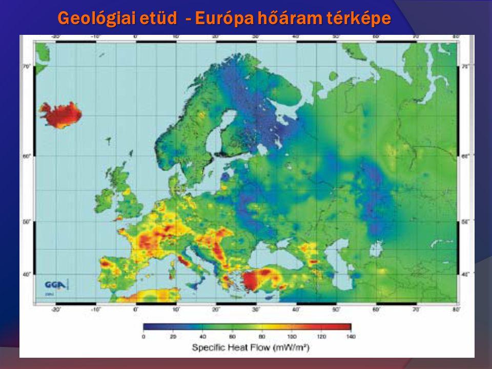 Geológiai etüd - Európa hőáram térképe