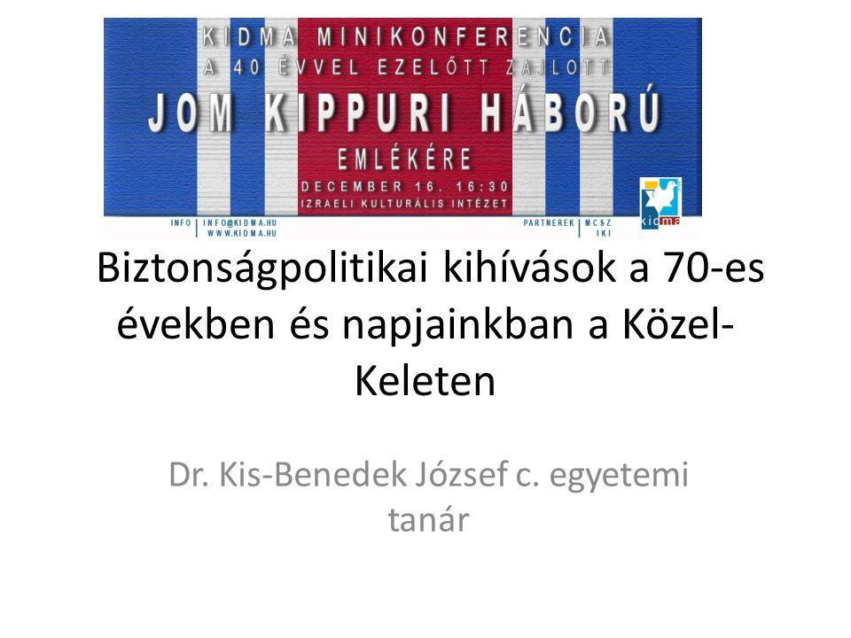 Dr. Kis-Benedek József c. egyetemi tanár
