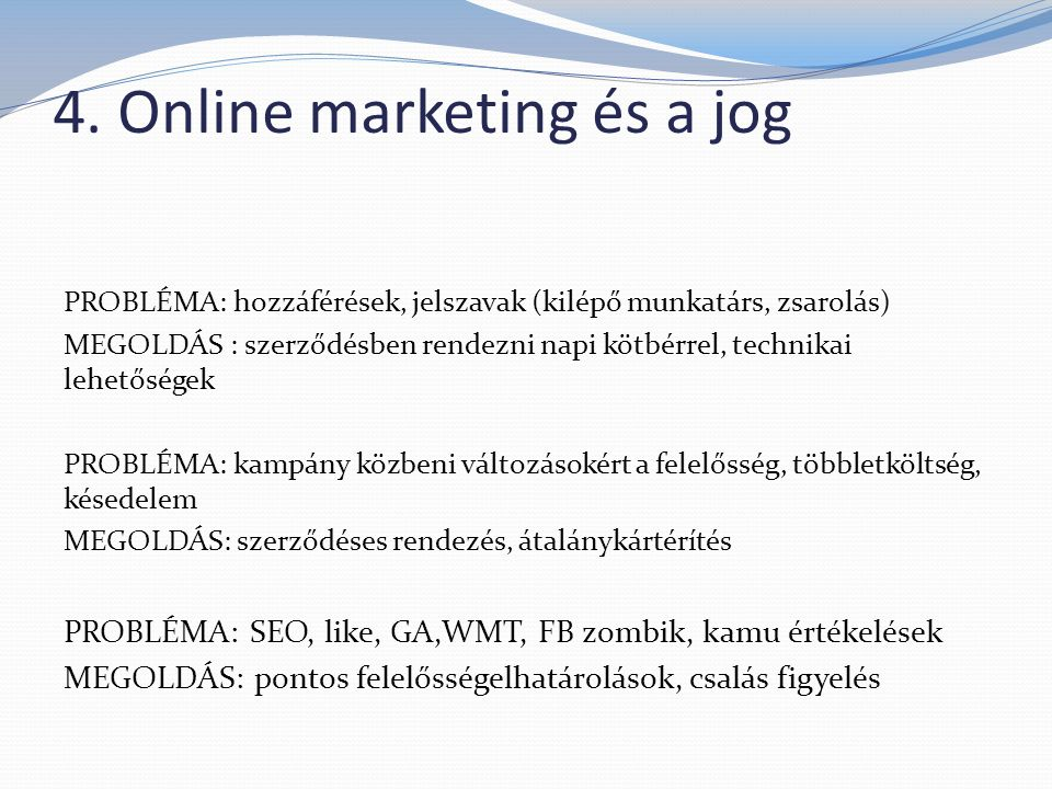 4. Online marketing és a jog