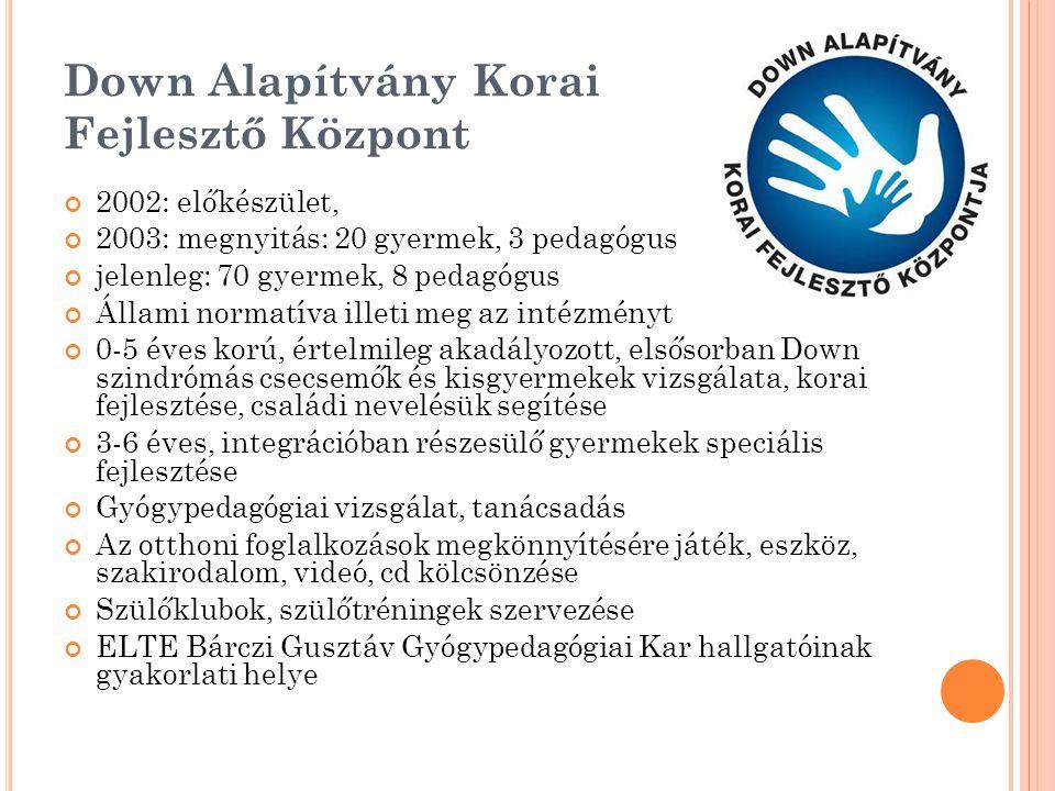 Down Alapítvány Korai Fejlesztő Központ
