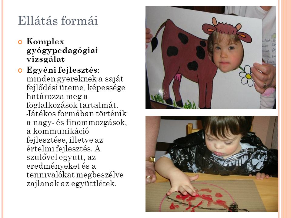 Ellátás formái Komplex gyógypedagógiai vizsgálat