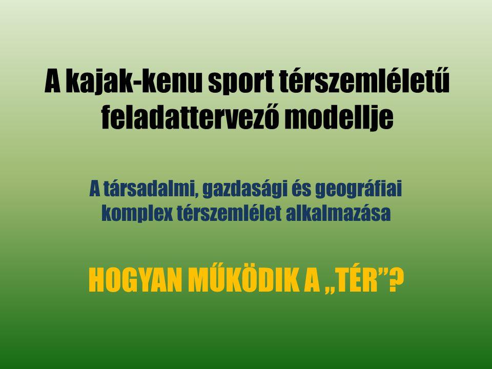 A kajak-kenu sport térszemléletű feladattervező modellje