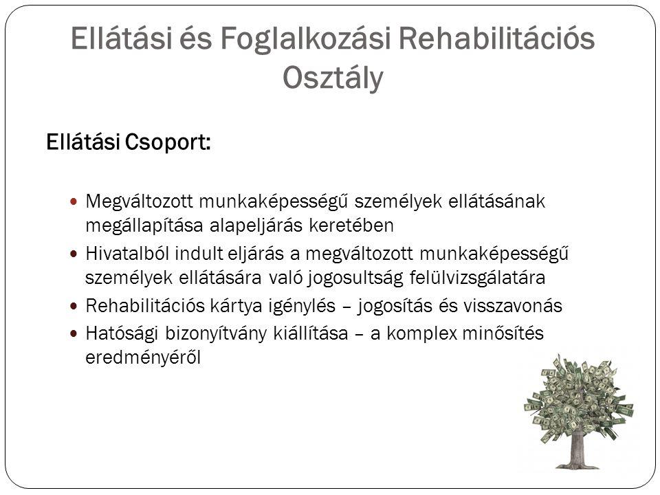Ellátási és Foglalkozási Rehabilitációs Osztály