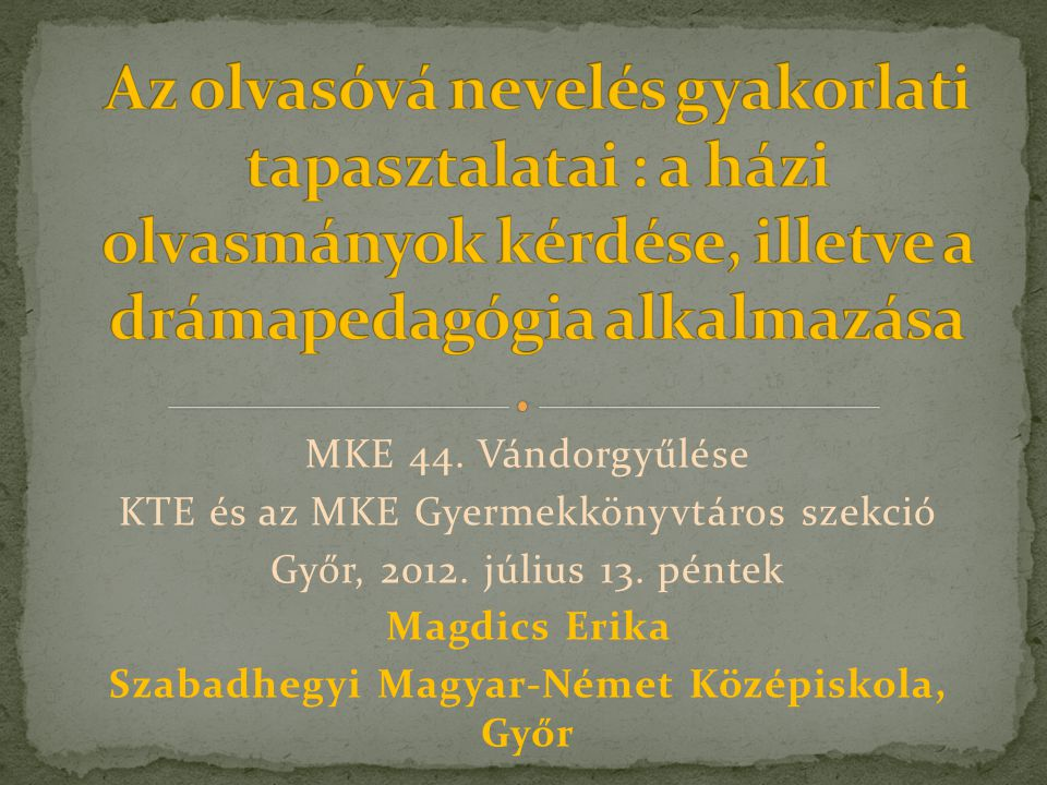 Szabadhegyi Magyar-Német Középiskola, Győr