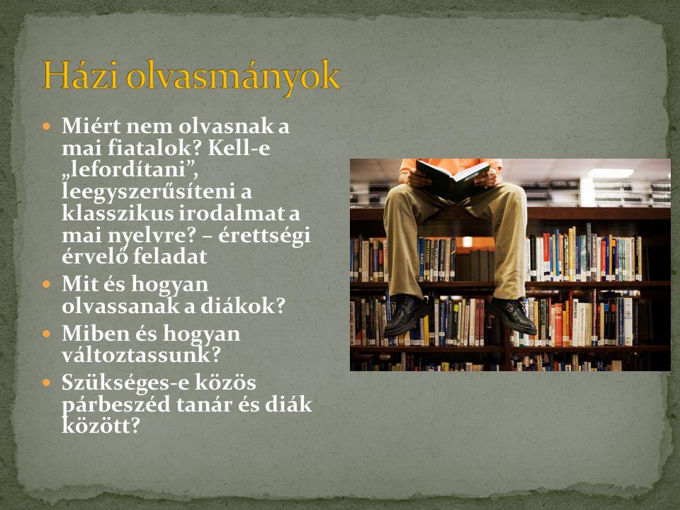 Házi olvasmányok