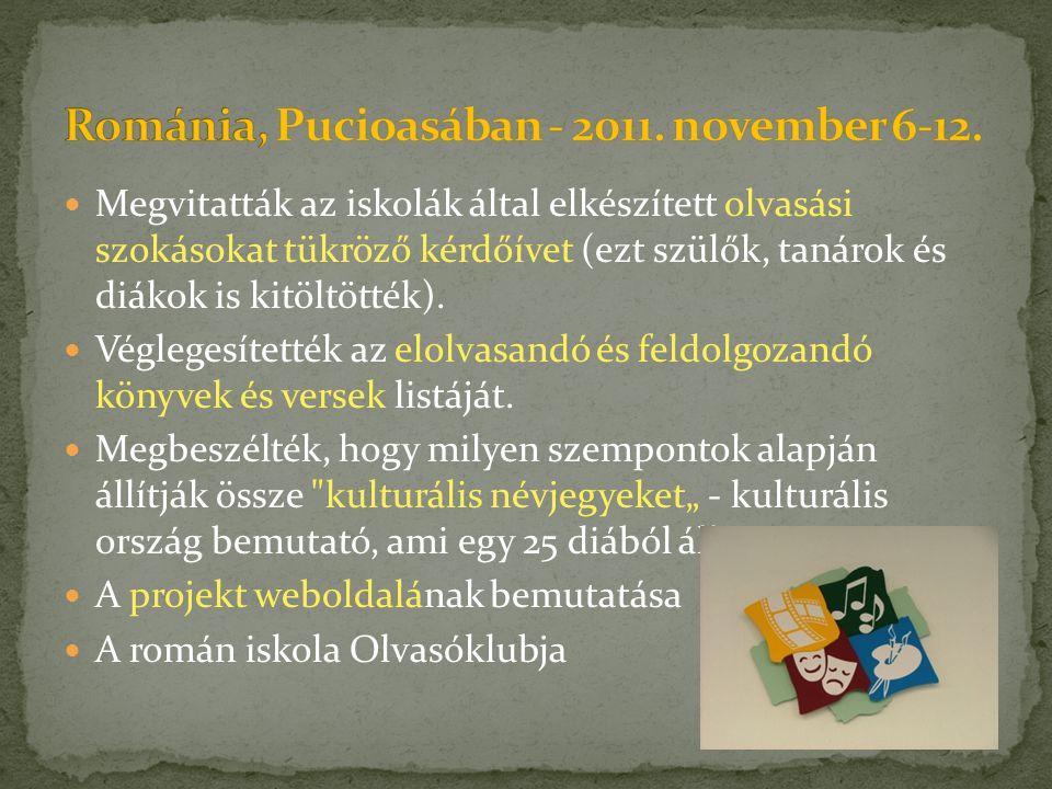 Románia, Pucioasában - 2011. november 6-12.