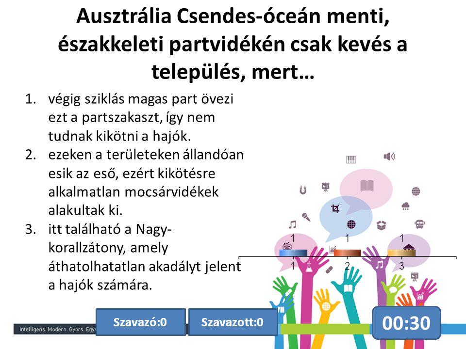Ausztrália Csendes-óceán menti, északkeleti partvidékén csak kevés a település, mert…