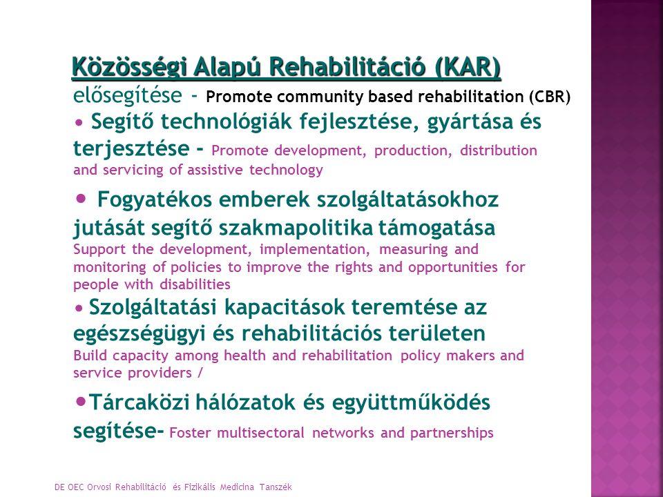 Közösségi Alapú Rehabilitáció (KAR)