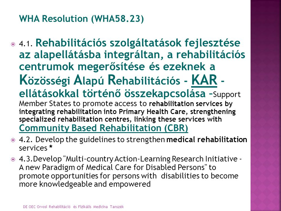WHA Resolution (WHA58.23)