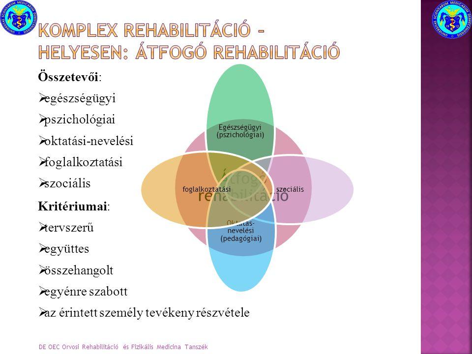 Komplex rehabilitáció – helyesen: átfogó rehabilitáció