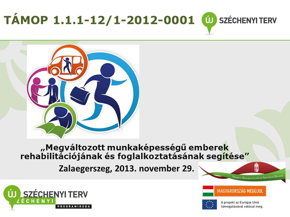 TÁMOP 1.1.1-12/1-2012-0001 Zalaegerszeg, 2013. november 29.