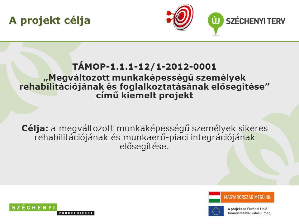 A projekt célja TÁMOP-1.1.1-12/1-2012-0001