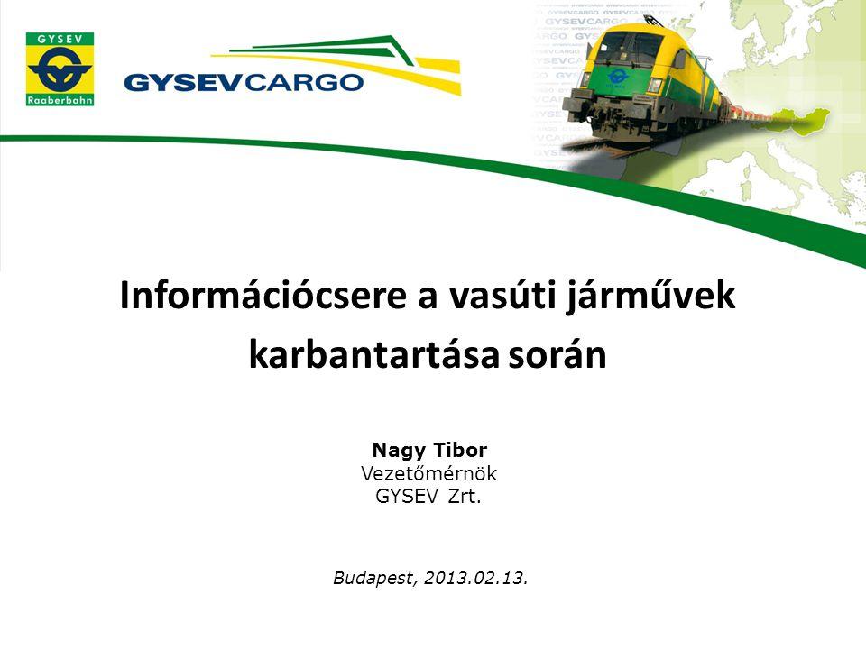 Információcsere a vasúti járművek karbantartása során