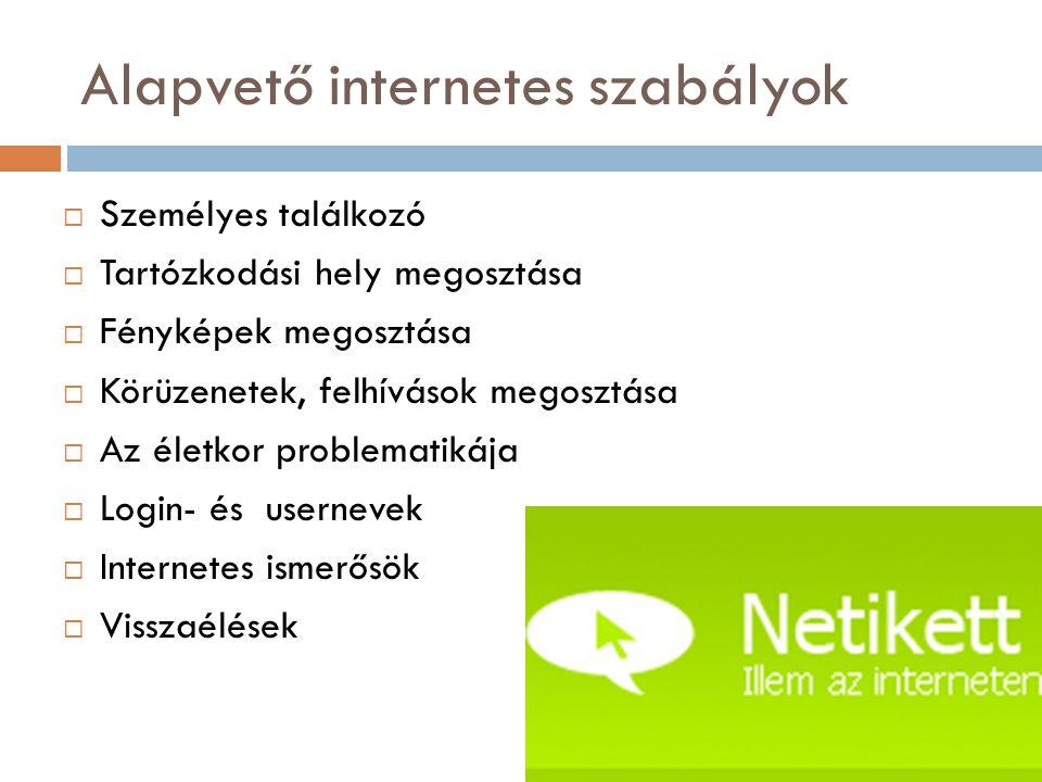 Alapvető internetes szabályok