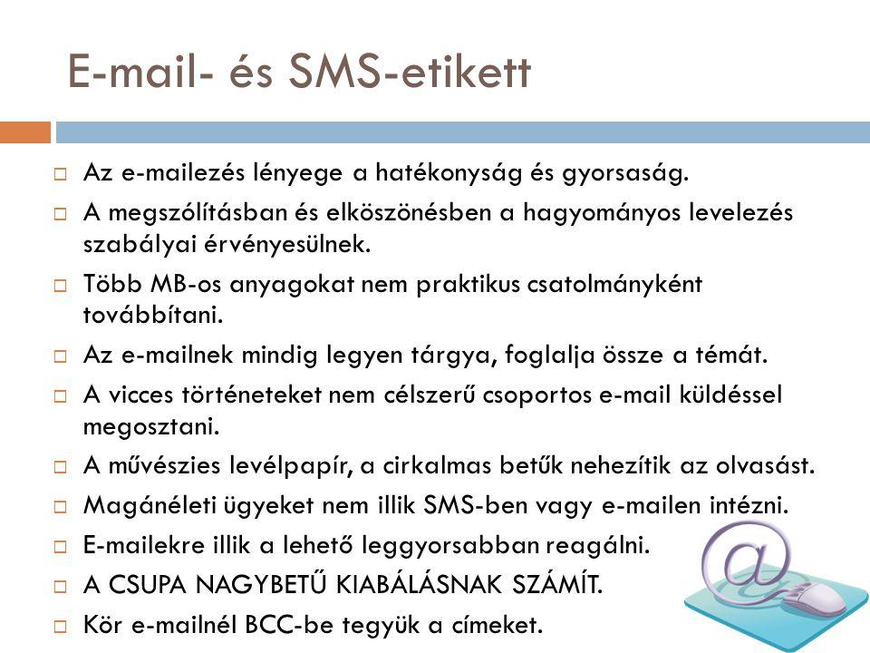 E-mail- és SMS-etikett