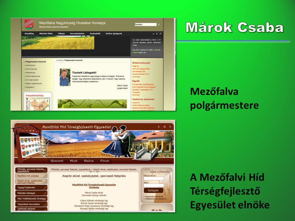 Márok Csaba Mezőfalva polgármestere