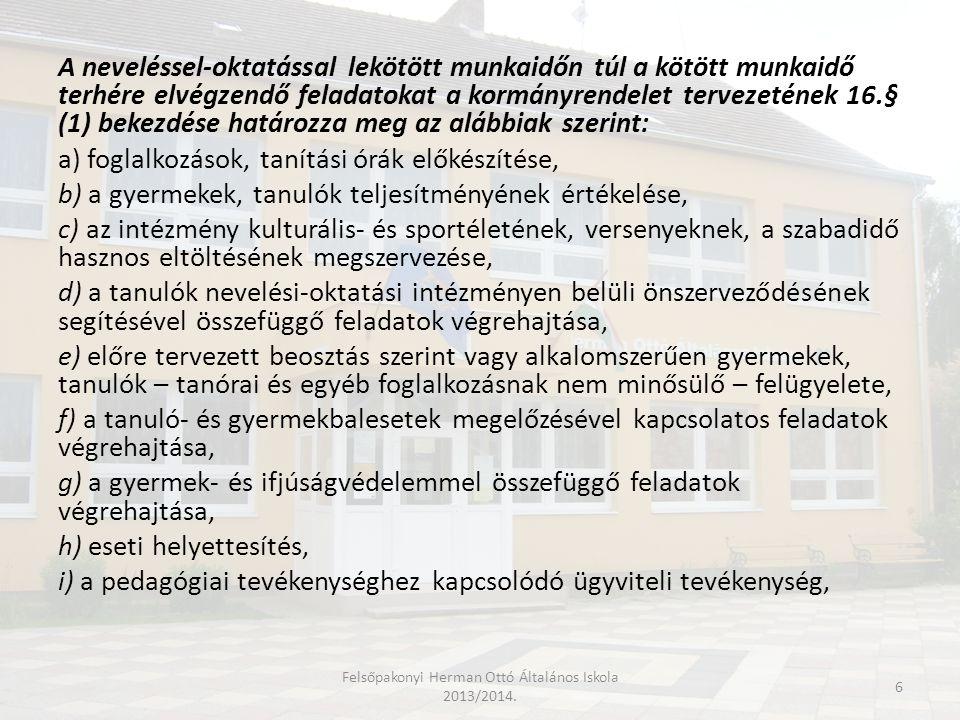 Felsőpakonyi Herman Ottó Általános Iskola 2013/2014.