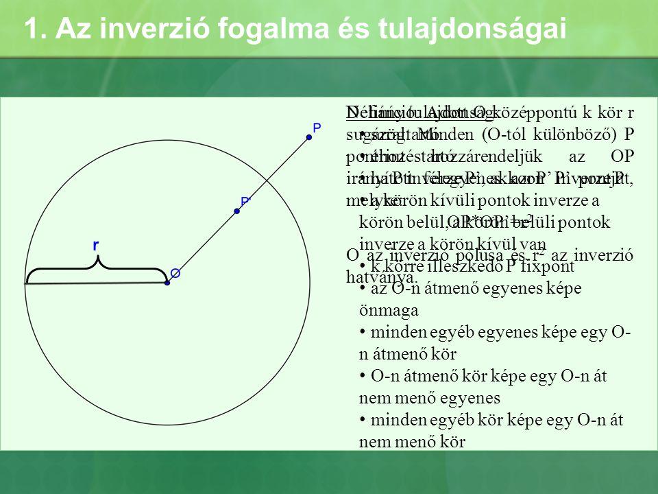 1. Az inverzió fogalma és tulajdonságai