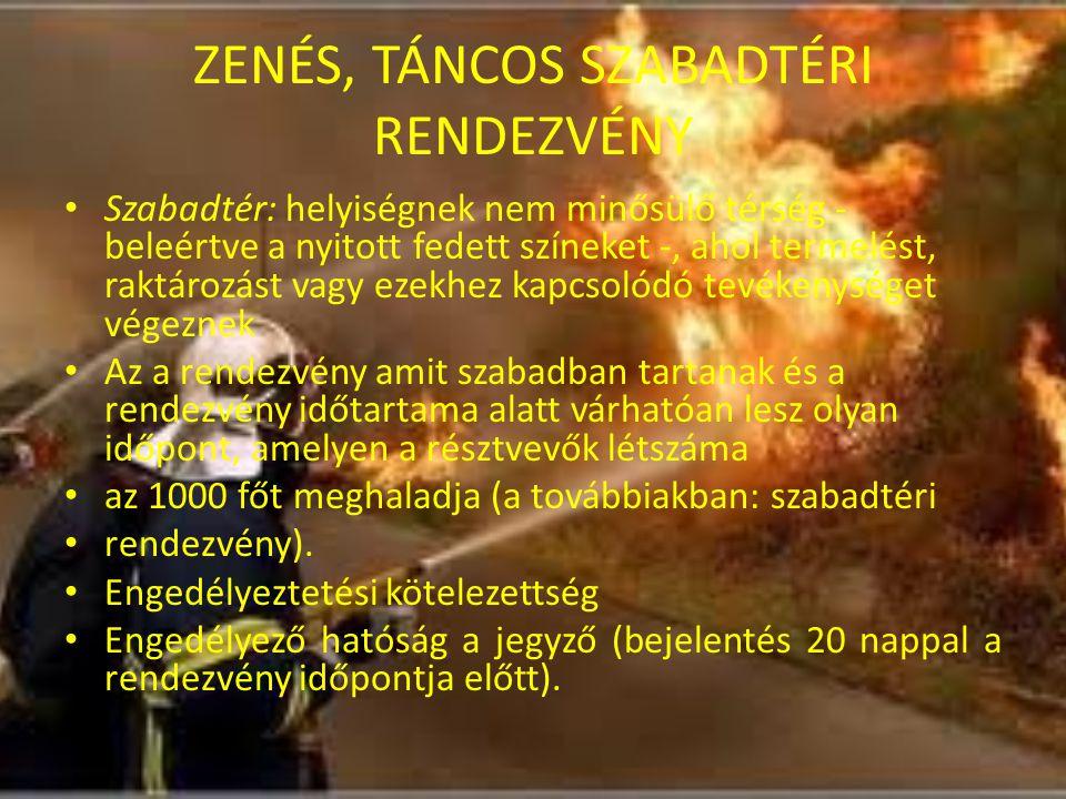 ZENÉS, TÁNCOS SZABADTÉRI RENDEZVÉNY