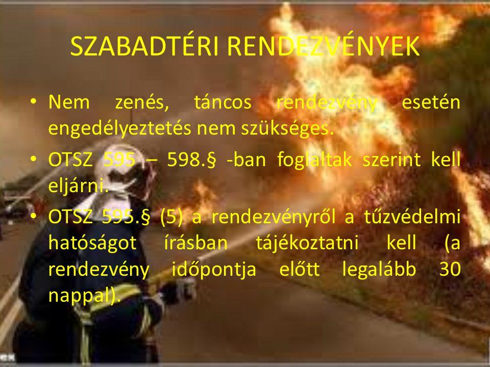 SZABADTÉRI RENDEZVÉNYEK