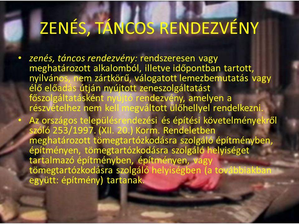 ZENÉS, TÁNCOS RENDEZVÉNY
