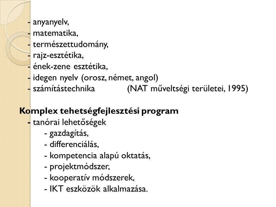 - idegen nyelv (orosz, német, angol)