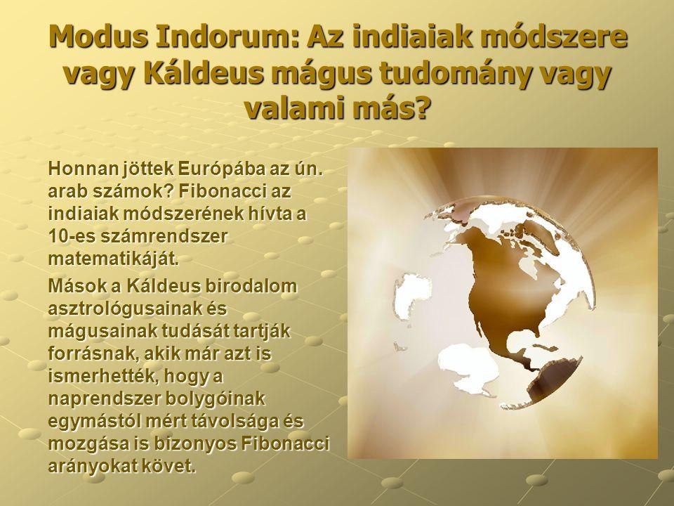 Modus Indorum: Az indiaiak módszere vagy Káldeus mágus tudomány vagy valami más