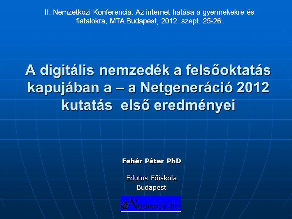 Fehér Péter PhD Edutus Főiskola Budapest