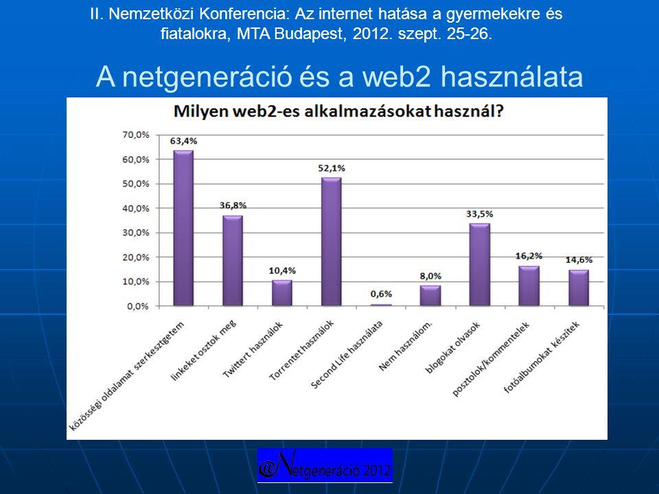A netgeneráció és a web2 használata