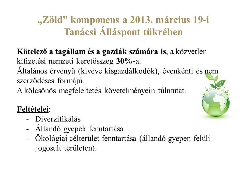 """""""Zöld komponens a 2013. március 19-i Tanácsi Álláspont tükrében"""