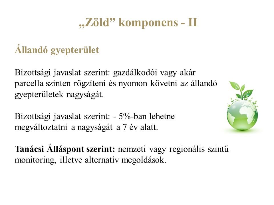 """""""Zöld komponens - II Állandó gyepterület"""