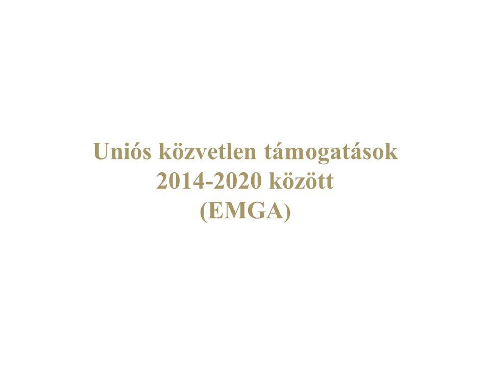 Uniós közvetlen támogatások 2014-2020 között (EMGA)
