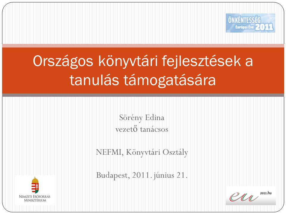 Országos könyvtári fejlesztések a tanulás támogatására