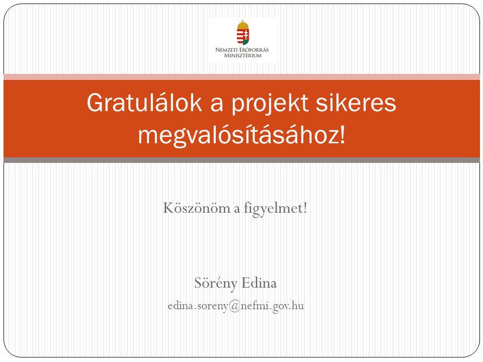 Gratulálok a projekt sikeres megvalósításához!