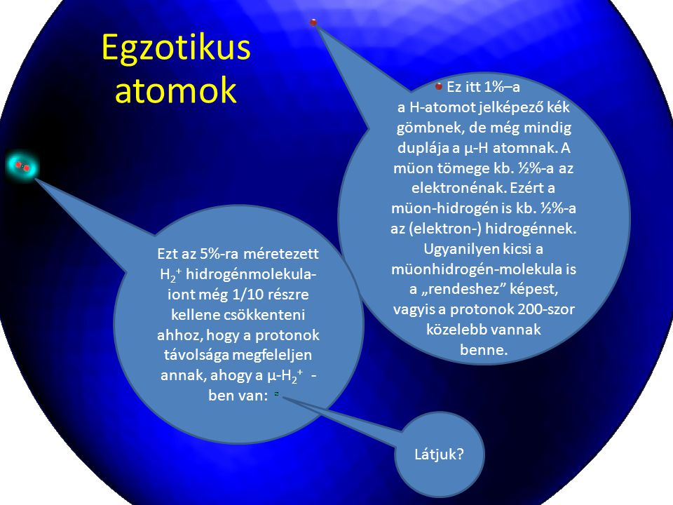 Egzotikus atomok Ez itt 1%–a