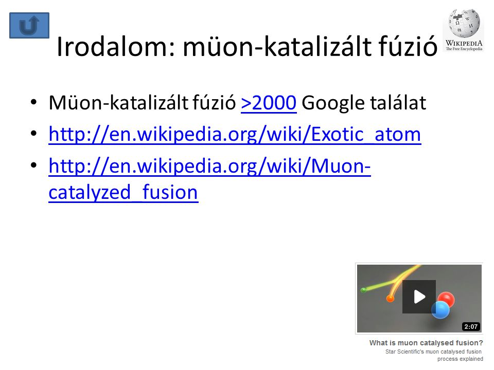 Irodalom: müon-katalizált fúzió