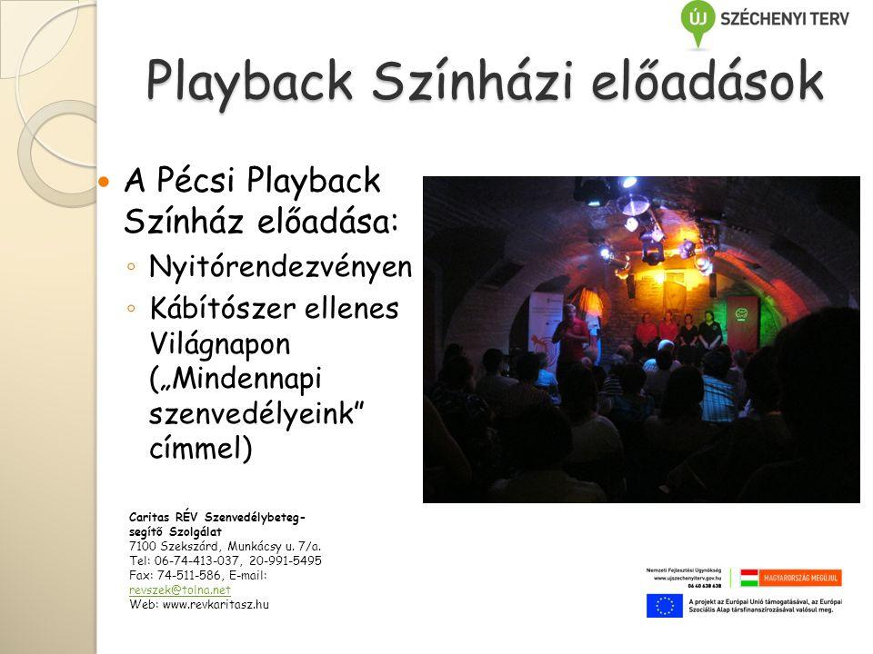 Playback Színházi előadások
