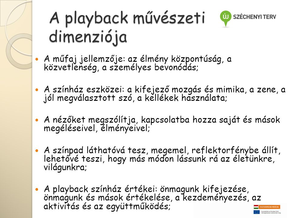 A playback művészeti dimenziója